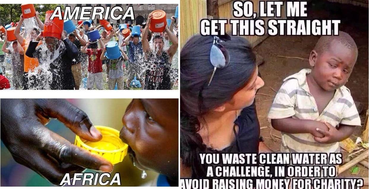 Donc, vous gâchez de l'eau potable pour éviter de récolter des fonds pour une association caritative ?
