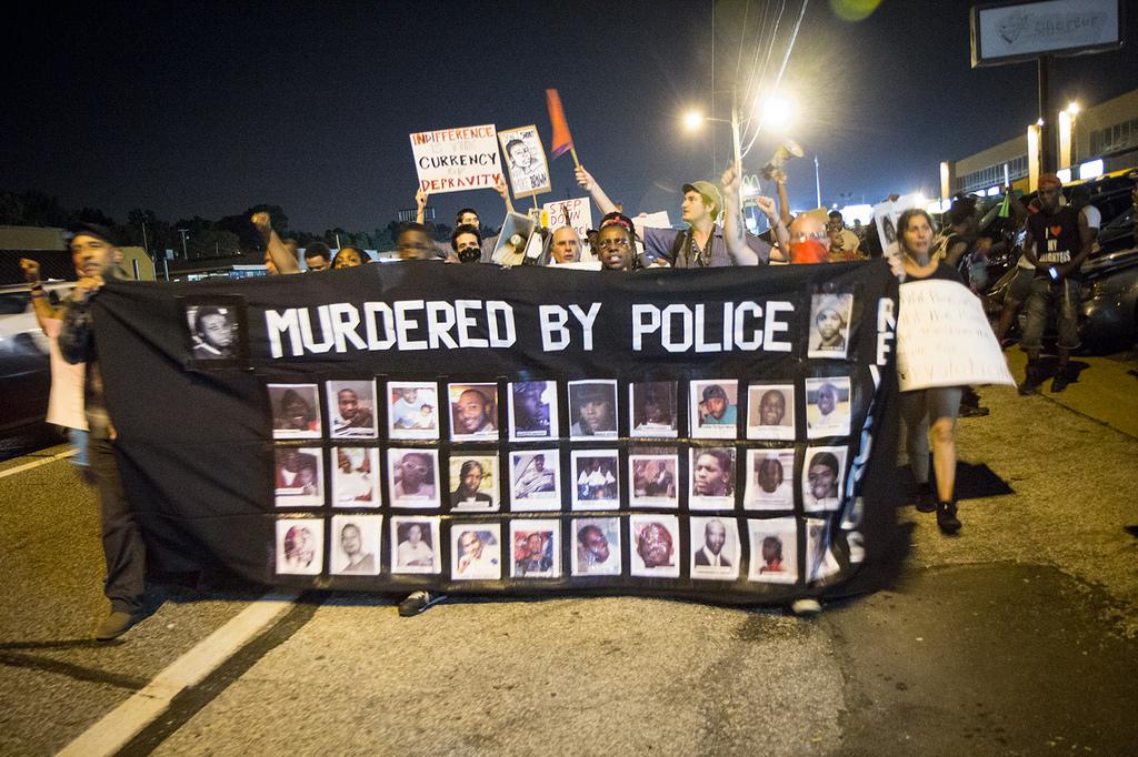 Une manifestation à Ferguson