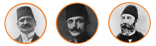 """Talaat, Enver et Djemal Pacha, les """"Trois Pachas"""", ont ordonné le génocide."""